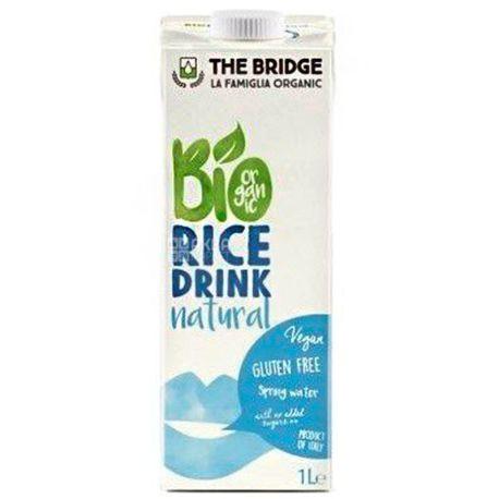 The Bridge, Rice drink Natural, 1 л, Брідж, Напій рисовий натуральний, без глютену