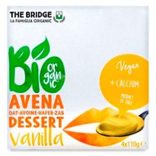 The Bridge, Avena dessert Vanilla, 4 шт. по 110 г, Бридж, десерт овсяный с ванилью, органический
