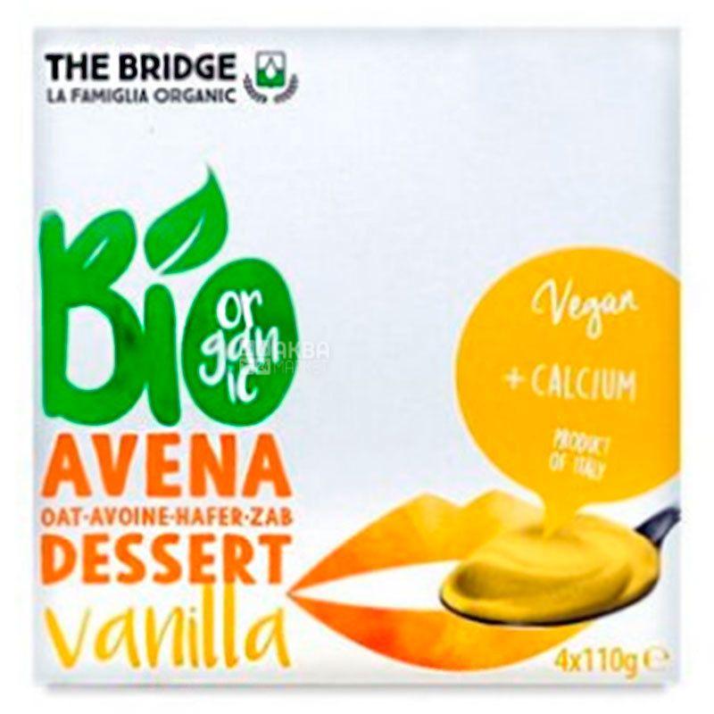 The Bridge, Avena dessert Vanilla, 4 шт. по 110 г, Брідж, Десерт вівсяний з ваніллю, органічний