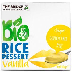 The Bridge, Десерт органический рисовый с ванилью, 4 x 110 г