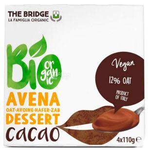 The Bridge, Organic Oat Dessert with Cocoa, 4 x 110 g