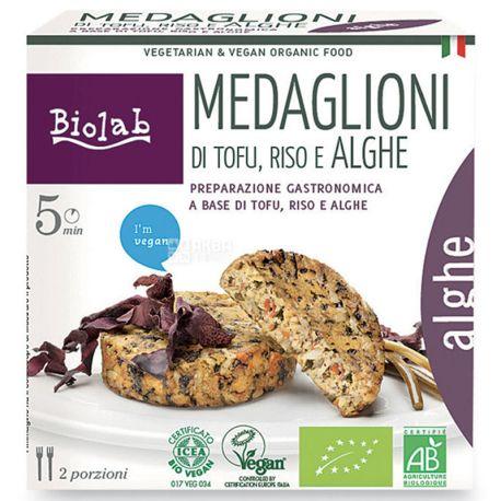 Biolab, Медальоны из тофу, с рисом и морскими водорослями органические, 190 г
