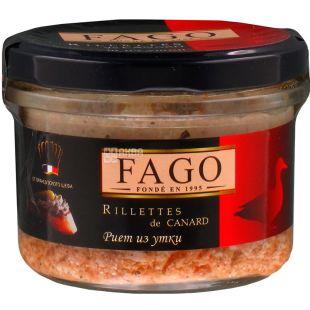 Fago, Риет из утиного мяса, 180 г