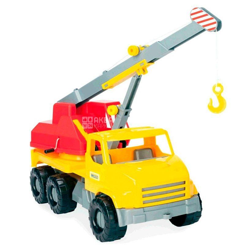 Wader City Truck, Игрушка Грузовик Кран, разноцветная, для детей с 3-х лет