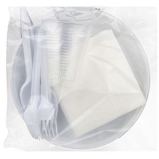 Альфа Пак, Набор одноразовой посуды, на 6 персон, 1 шт.