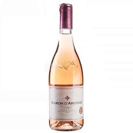 Baron d'Arignac, Вино розовое полусладкое, 0,75 л