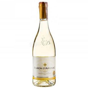 Baron d'Arignac, Blanc Medium Sweet, Вино белое полусладкое, 0,75 л