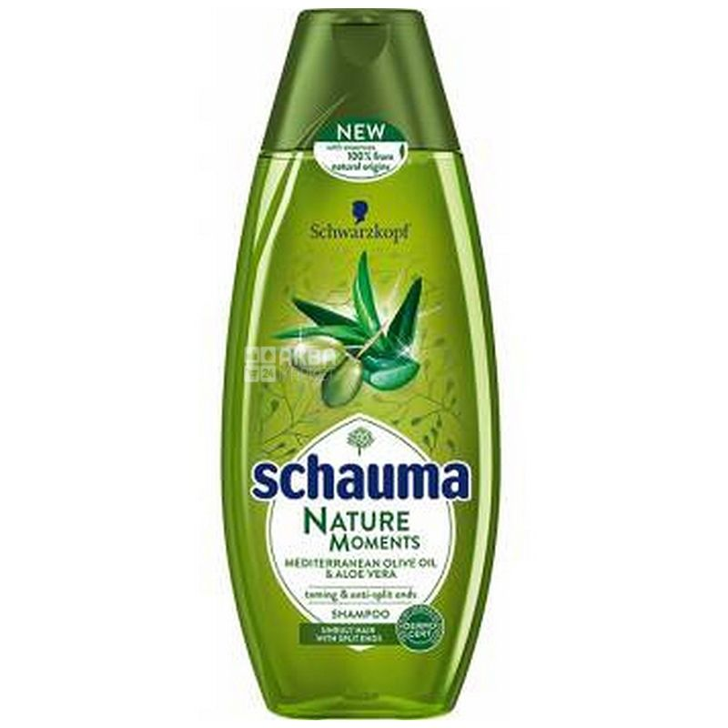 Schauma Nature Moments, Шампунь, Середземноморська оливка і алое вера, 400 мл