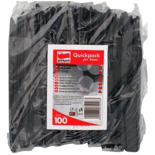 Quickpack, Нож одноразовый прочный, черный, 100 шт.