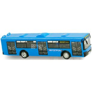Auto industry, toy car, trolley bus, metal, for children from 3 years