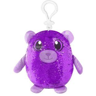 Shimmeez, Мягкая игрушка с пайетками Милый Медвежонок, на клипсе, 9 см