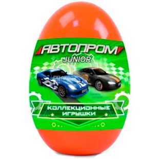 Automotive industry, Metallic toy car, in an egg, for children from 3 years