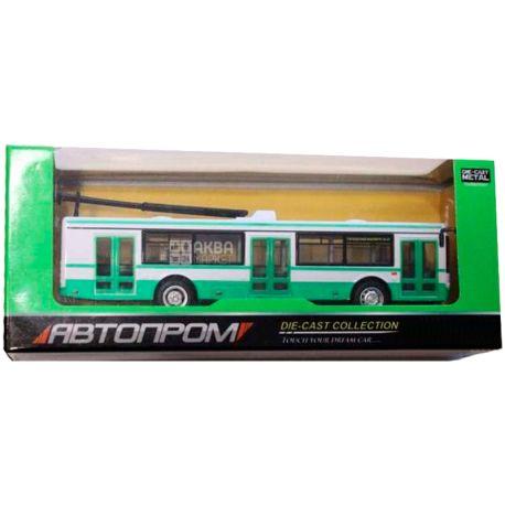 Автопром, Машина іграшкова,тролейбус, металевий, для дітей з 3-х років