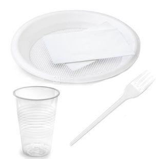 Набор одноразовой посуды, на 10 персон, 1 шт.