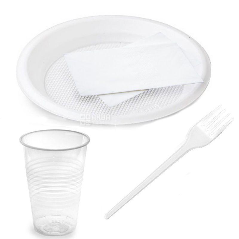Набір одноразового посуду, на 10 персон, 1 шт.
