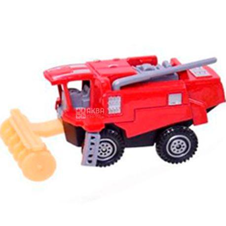 Автопром, Машина іграшкова, комбайн, металева, для дітей з 3-х років