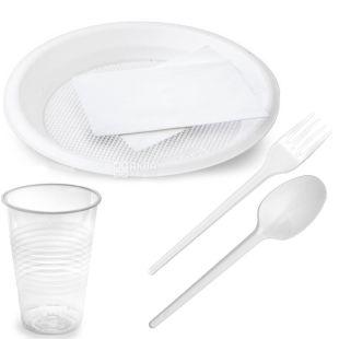 Альфа Пак, Набір одноразового посуду, на 6 персон, 1 шт.