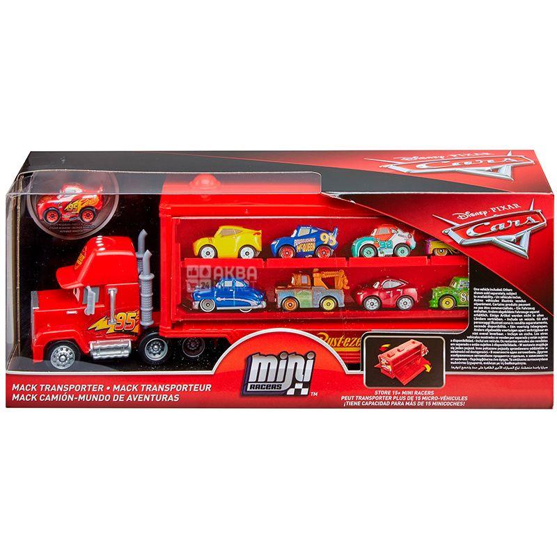 Disney Cars, Машина іграшкова, вантажівка-транспортер, пластик, для дітей з 3-х років
