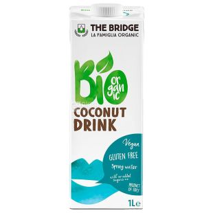 The Bridge, Organic Coconut Drink, Sugar Free, 1 L