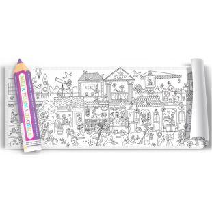 Colorkid, Мега раскраска Город профессий, 100х35 см