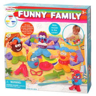 Playgo, Набор для лепки Dough Забавная семейка, 3+