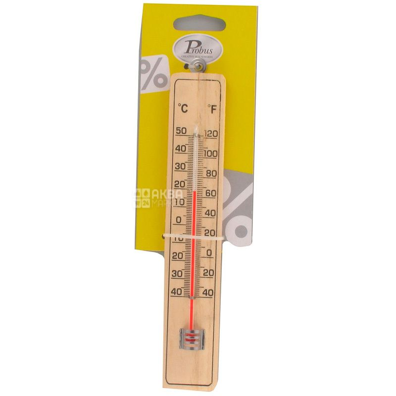 Probus, Wooden thermometer, 21 cm