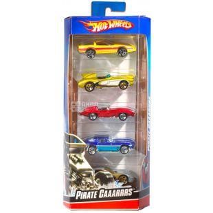Hot Wheels, Игрушечный набор, автомобили базовые, детям с 3-х лет, 5 шт.