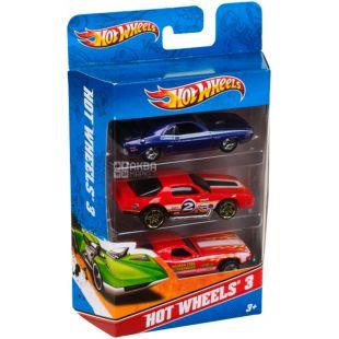 Hot Wheels, Игрушечный набор, автомобили базовые, детям с 3-х лет, 3 шт.