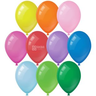Balloons, 14 x 30 cm, assorted, 10 pcs.