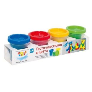 Genio Kids, Dough clay for modeling, 4 colors, 50 g each