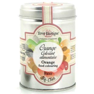 Terre Exotique, Барвник харчовий натуральний, помаранчевий, 50 г