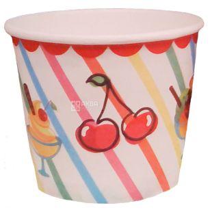 Альфа Пак, Креманки для мороженого, бумажные, 286 мл x 30 шт.