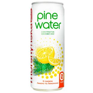 Morshynska Pine Water Lemon, Lightly Carbonated Water, 0.33 L