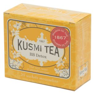 Kusmi Tea, BB-Detox, 20 пак. х 2,2 г, Чай Кусмі Ті, ББ-Детокс, зелений, з квітковим букетом