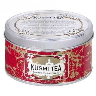 Kusmi Tea, Quatre fruits rouges, 125 г, Чай Кусми Ти, 4 красных ягоды, черный, с малиной, вишней, смородиной и земленикой, ж/б