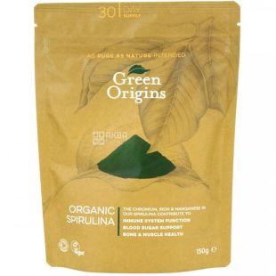 Green Origins, Порошок із спіруліни органічний, 150 г