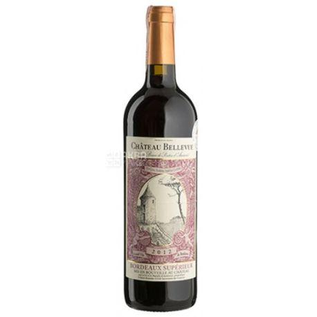 Chateau Bellevue Rouge, Вино красное сухое, 0,75 л