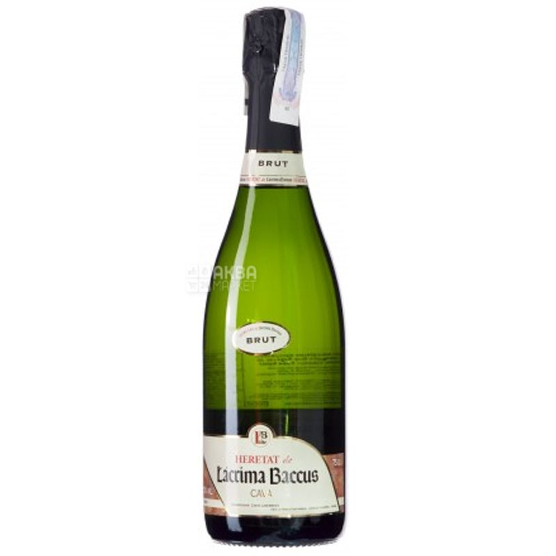 Lacrima Baccus, Heretat Brut, Игристое белое вино, 0,75 л