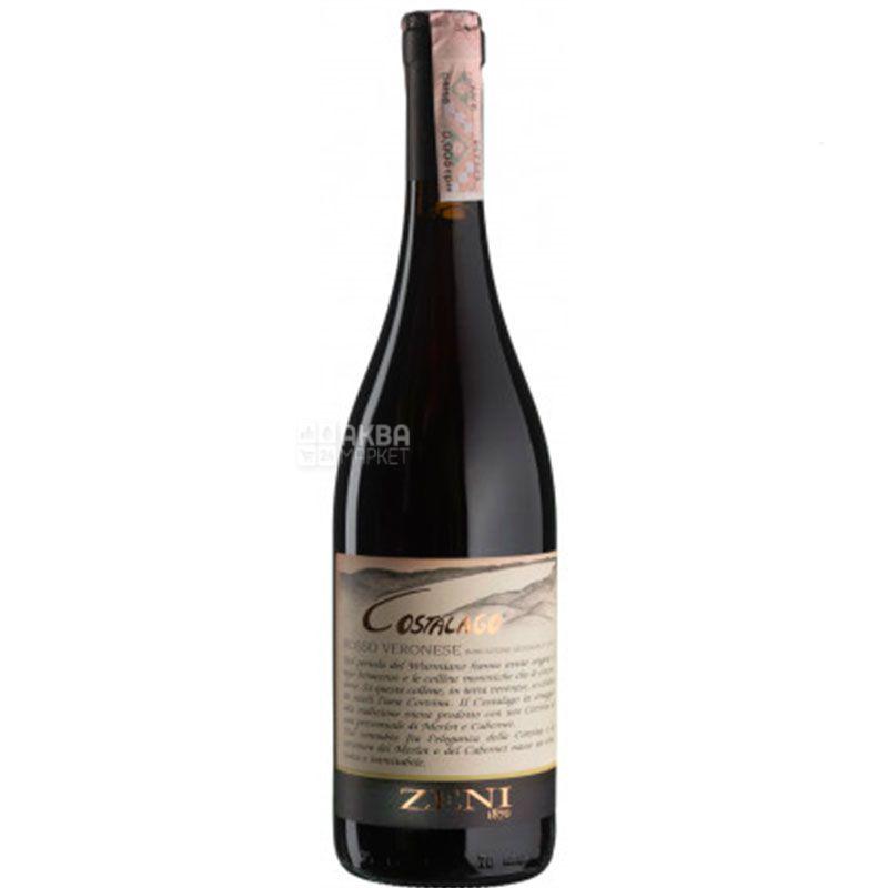 Zeni,Costalago Rosso Veronese, Вино червоне сухе, 0,75 л