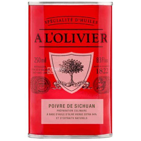 A L'Olivier, Олія оливкова екстра-верджин з сичуанським перцем, 250 мл