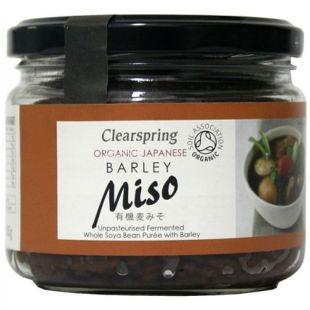 Clearspring Miso, Паста з ячменем непастеризована органічна, 300 г