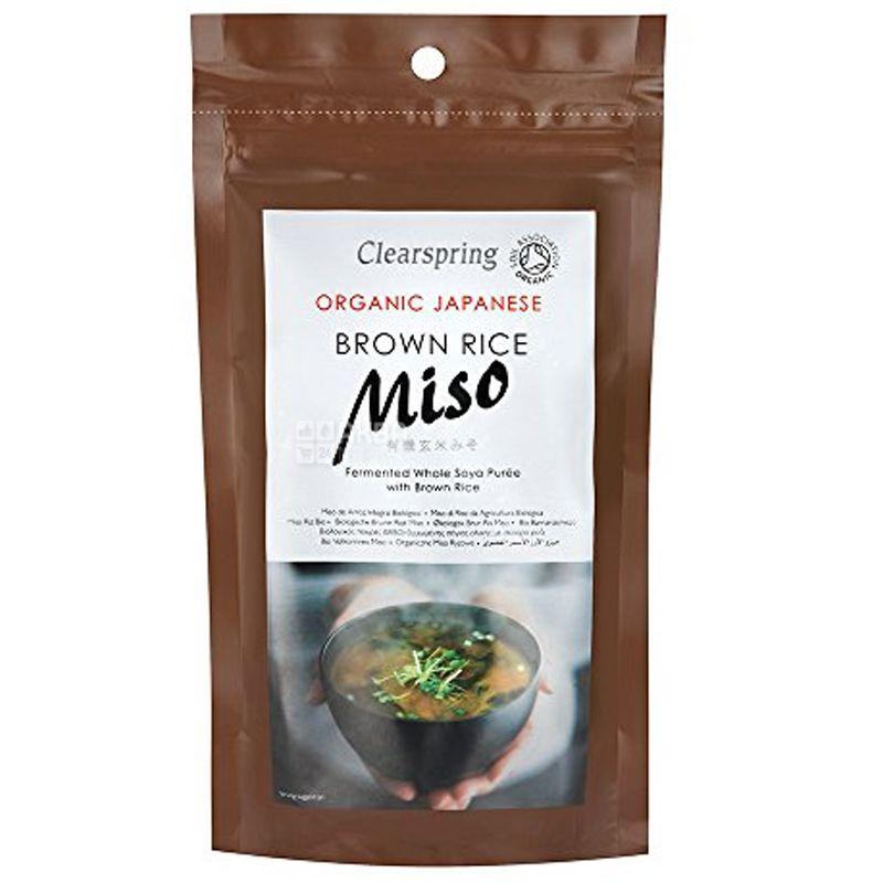 Clearspring, Паста Мисо для приготовления супа с коричневым рисом, органическая, 300 г