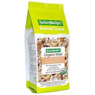 Seitenbacher, 454 г, Мюсли Зайтенбахер, овсяные, протеиновые, с шоколадом, сухой завтрак, быстрого приготовления