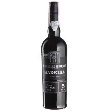 Henriques&Henriques Finest Dry, Вино белое крепленое, 0,5 л