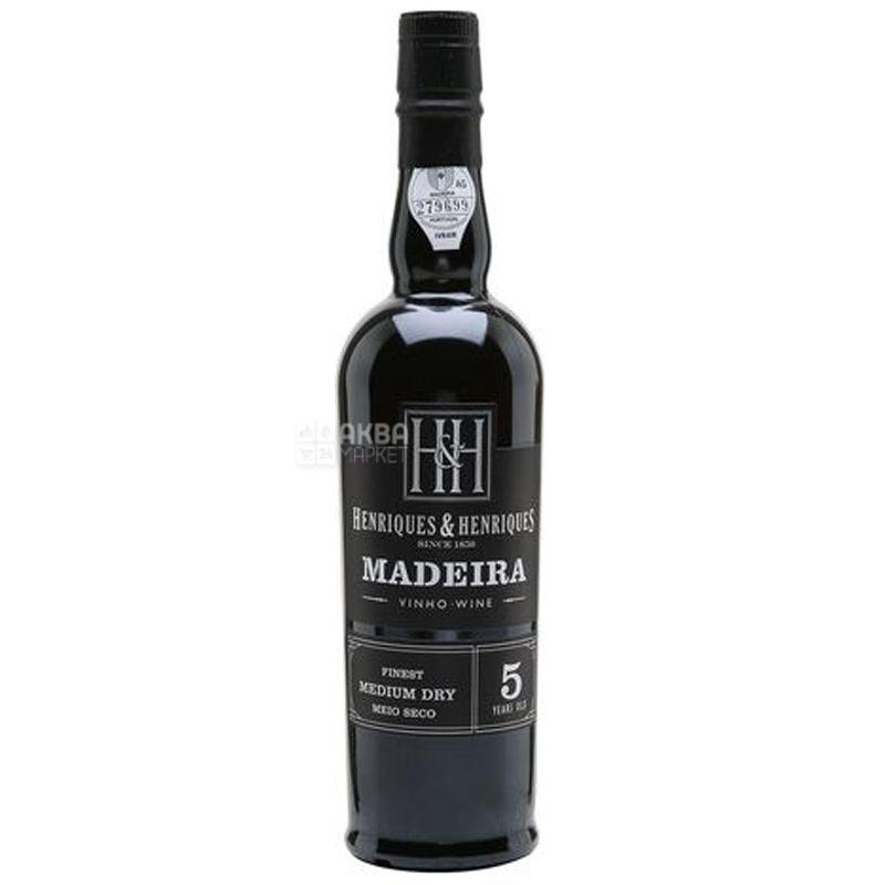 Henriques&Henriques Finest Medium Dry, Вино белое крепленое, 0,5 л