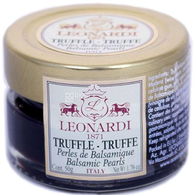 Leonardi, Жемчужины бальзамического уксуса со вкусом трюфеля, 50 г