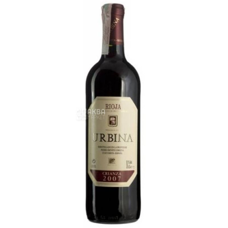 Urbina, Crianza, Вино красное сухое, 0,75 л