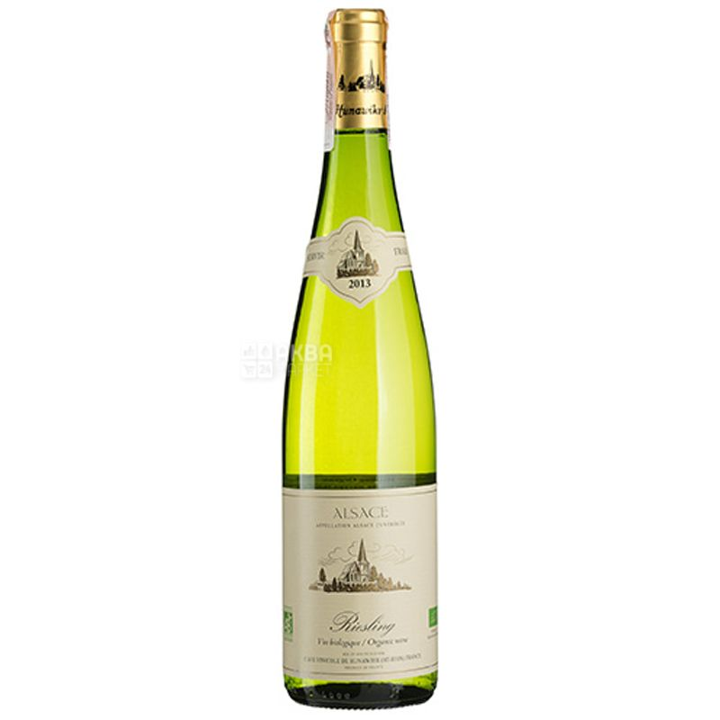 Hunawihr, Riesling Organic Sec, Вино белое сухое, 0,75 л