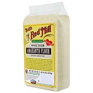 Bob's Red Mill, Amaranth Flour, 0,624 кг, Борошно Бобс Ред Мілл, з амаранту, без глютену, органічне