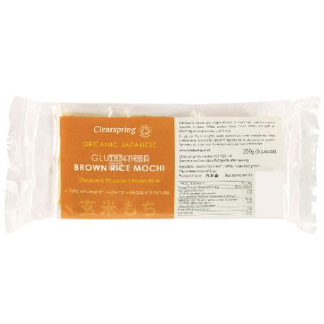 Clearspring, Тесто из коричневого риса Моти органическое, 250 г